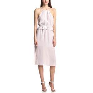 BCBGeneration Chiffon Peplum Midi Dress